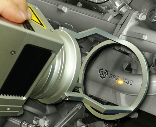 Marcação a laser e registro de caminhões